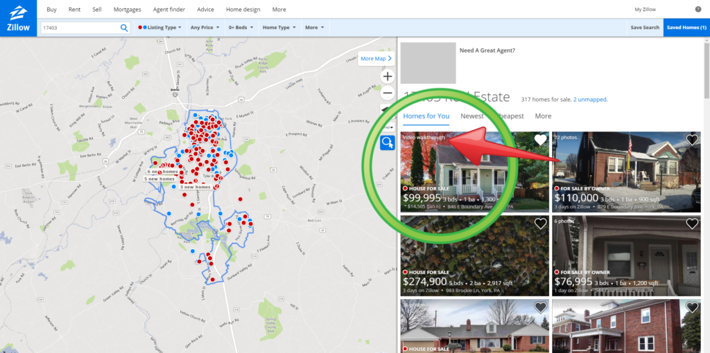 Zillow Video Walkthroughs Listing Rankings