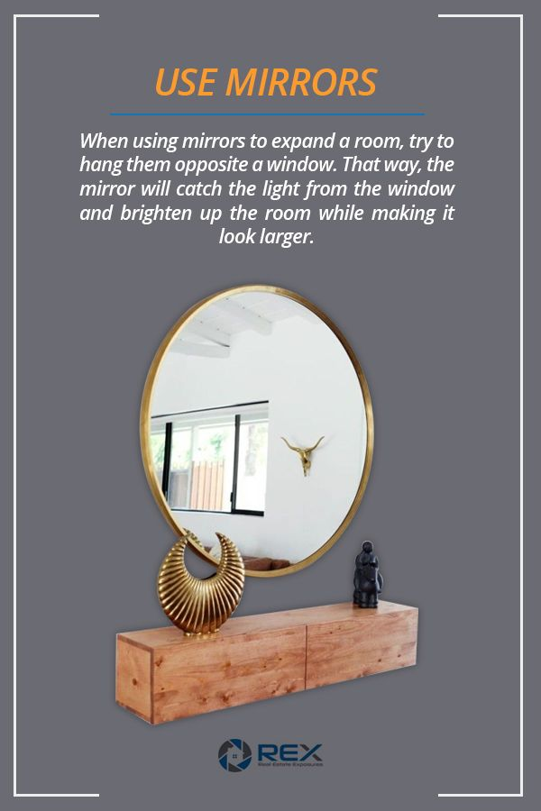 Use Mirrors When Staging Home for Real Estate Listing